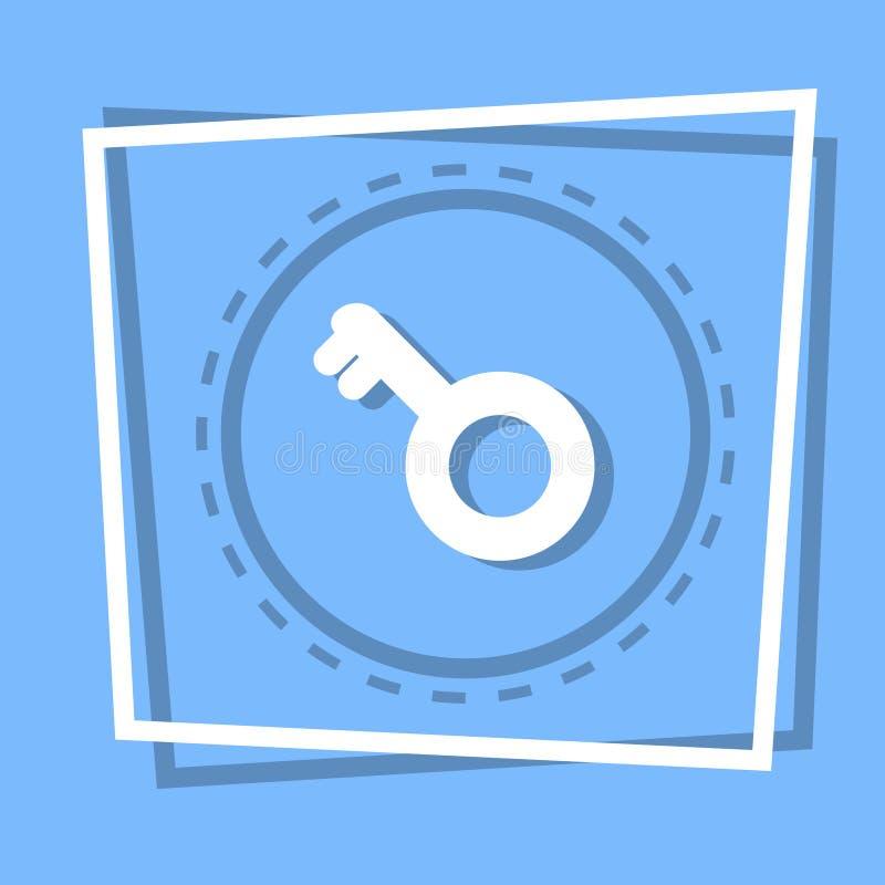 Concept principal de protection de sécurité d'icône illustration stock