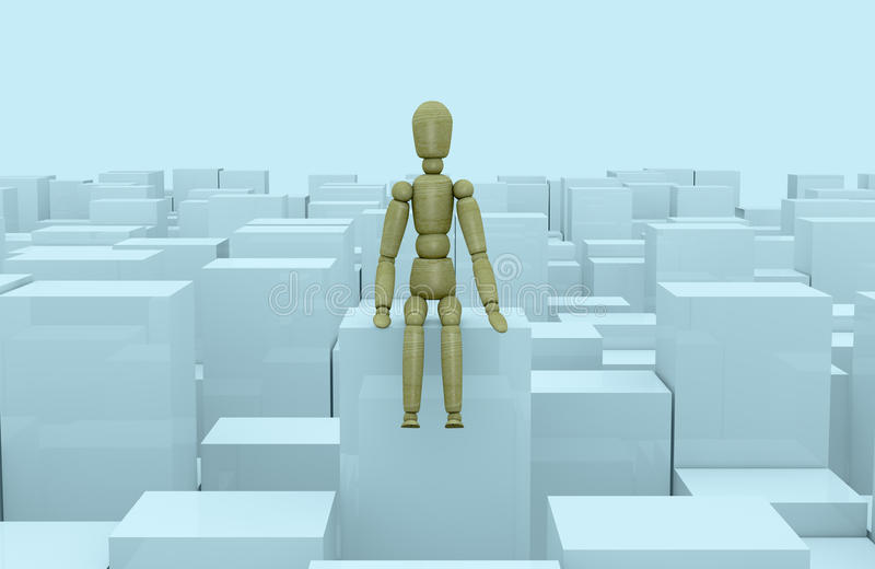 Download Concept Of Problem, Doubt Or Loneliness Stock Illustration - Image: 24472853