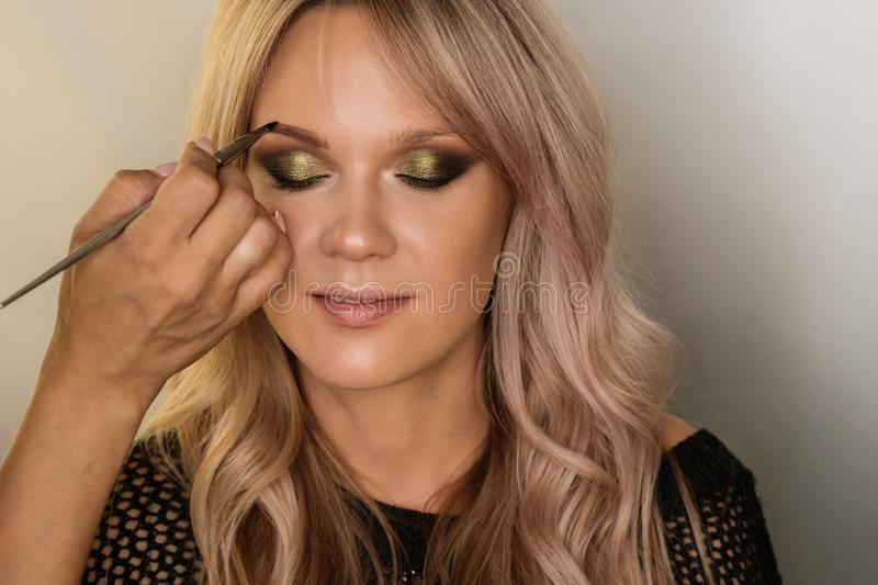 Concept of professional make up royalty free stock photography