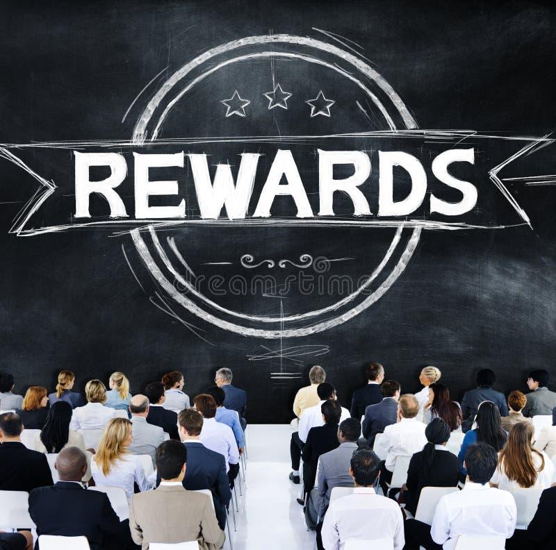 Concept professionnel de budget de trophée d'avantage de récompenses images stock