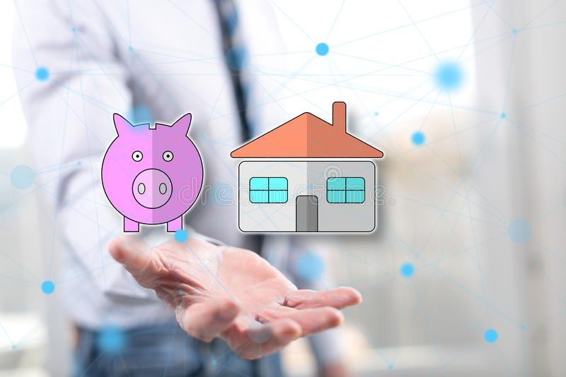 Concept of property investment stock images