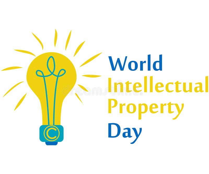 Concept of protection of copyright, intellectual property in the form of an icon of copyright on the castle. World Intellectual Property Day. concept of vector illustration