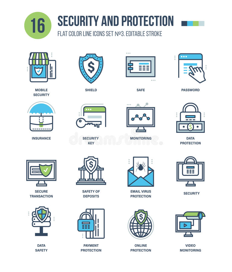 Concept of protection and security vector illustration