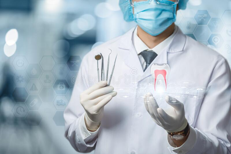 The concept of the provision of dental treatment royalty free stock photography