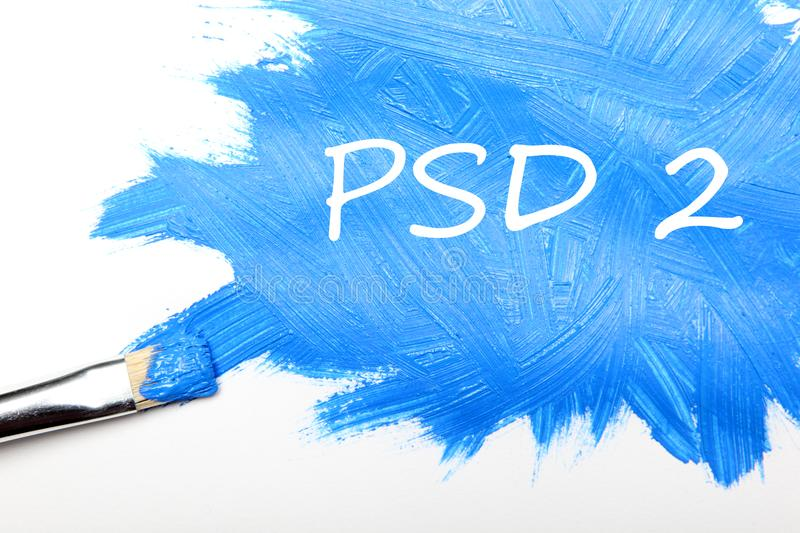 Concept of PSD2 - Payment services directive stock image