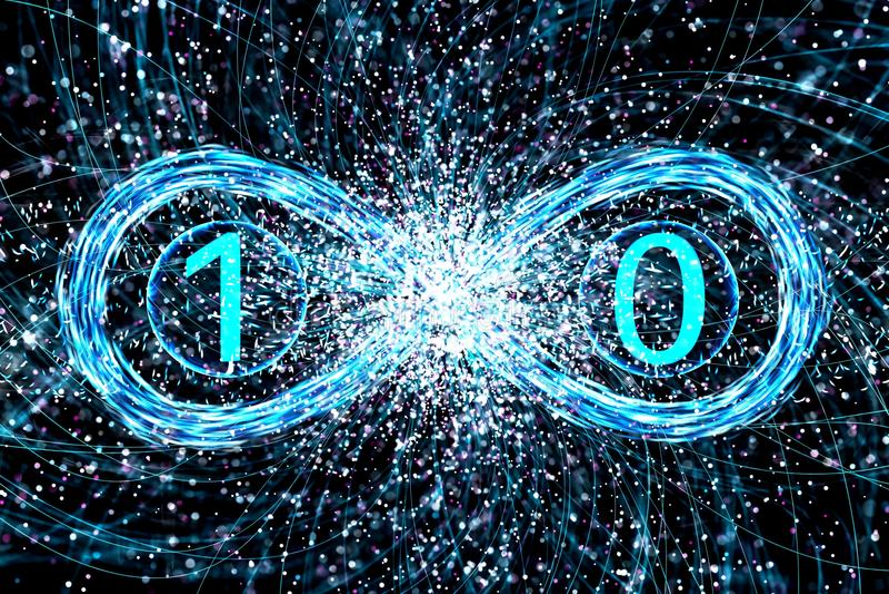 Concept quantumfysicadualiteit van een foton