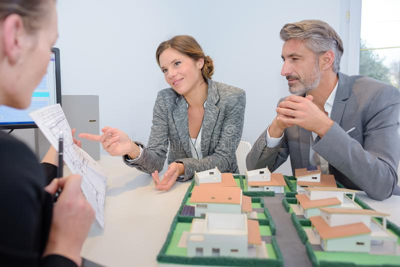 Concept real estate pricing details. Concept of real estate pricing details stock photo