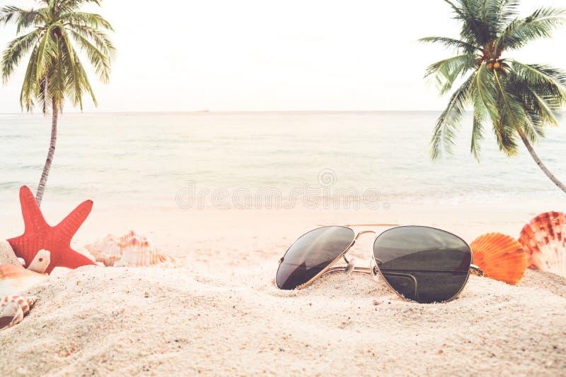 Concept recreatie in zomer op tropisch strand stock foto's
