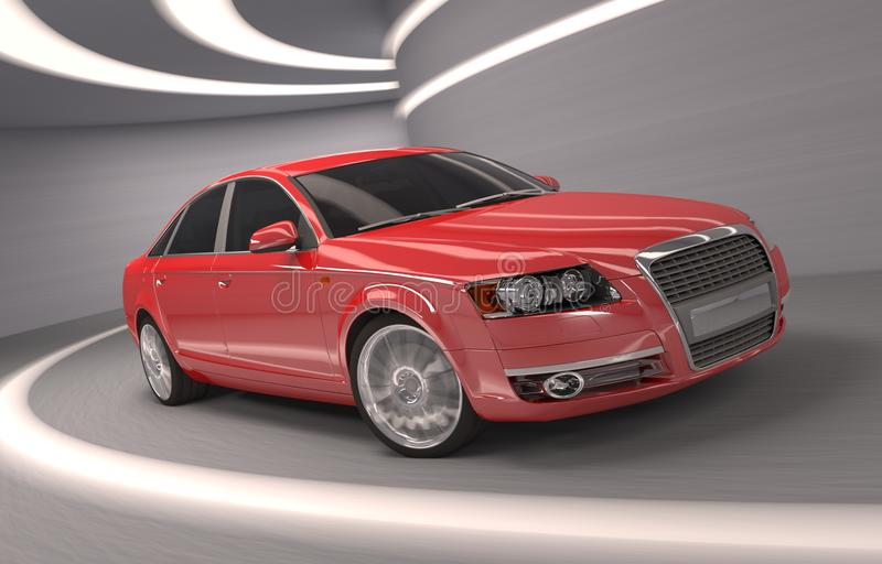 Concept red car of my design.  royalty free illustration