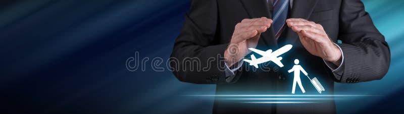 Concept reisverzekering royalty-vrije stock afbeelding