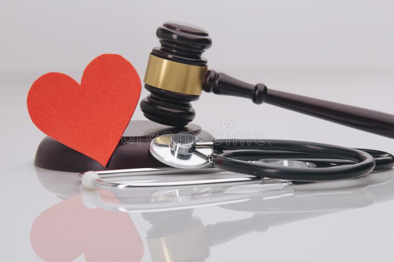 A concept related to a medical lawsuit in the legal. System royalty free stock photos