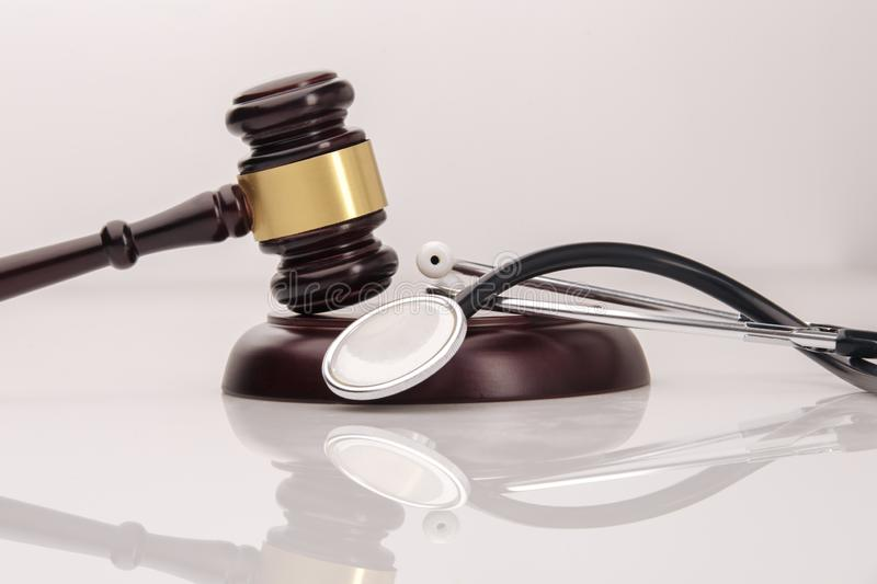 A concept related to a medical lawsuit in the legal. System stock photo