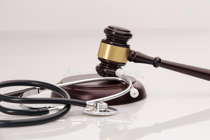 A concept related to a medical lawsuit in the legal. System royalty free stock image
