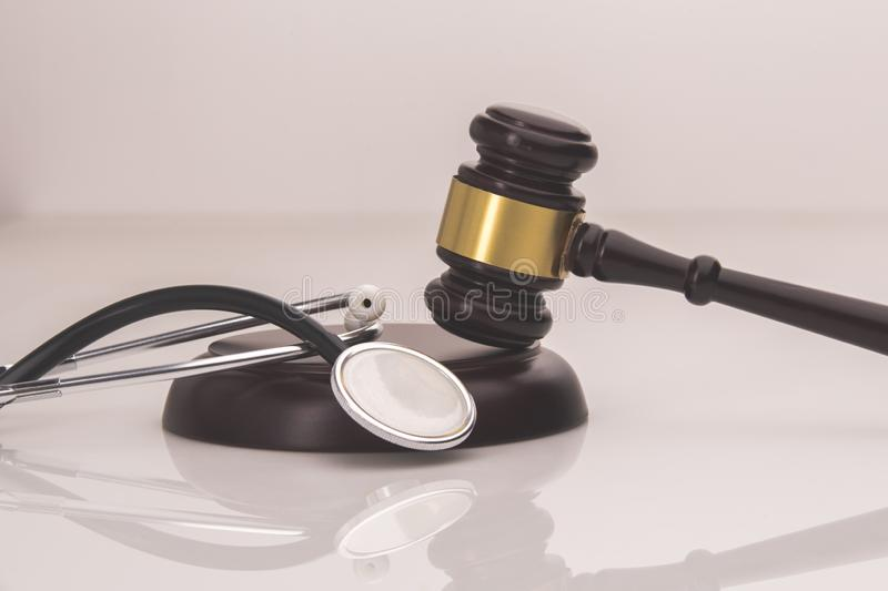 A concept related to a medical lawsuit in the legal. System royalty free stock photography