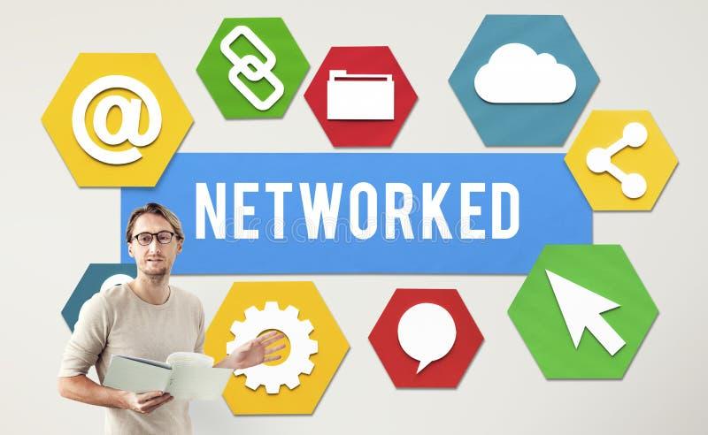Concept relié au réseau de connexion internet de mise en réseau photos libres de droits