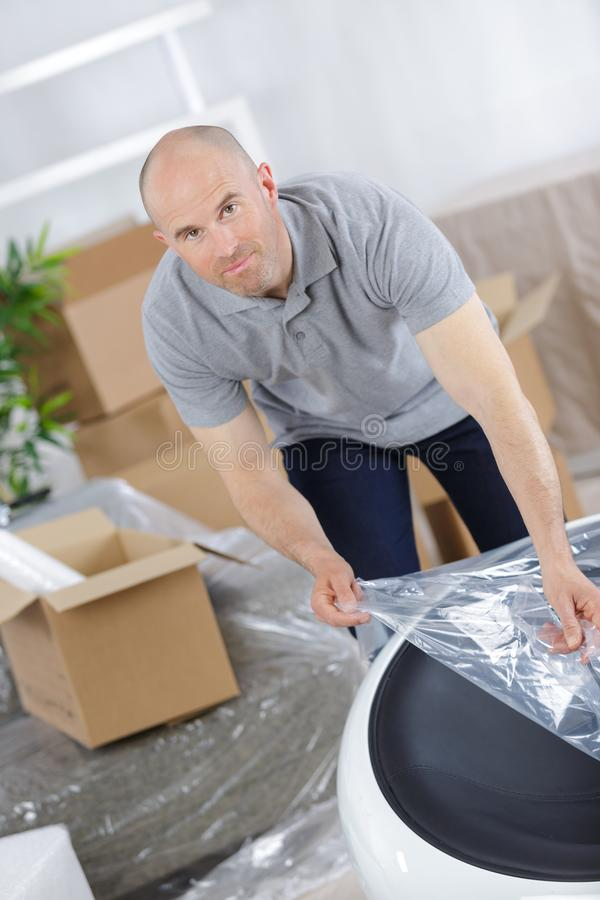 Concept relocation mover services stock images