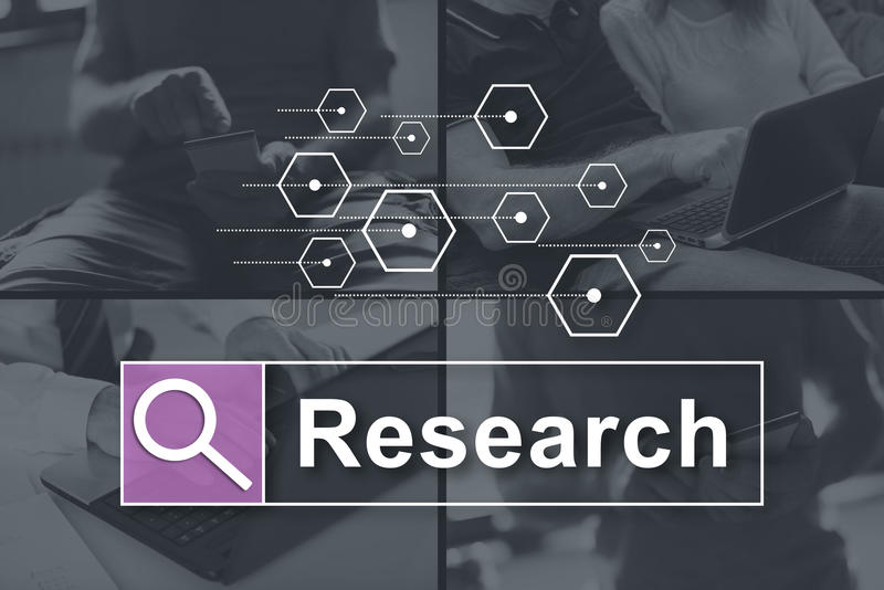Concept of research stock photography