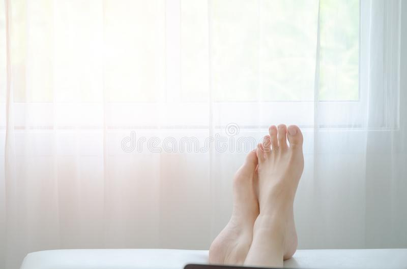 Concept of resting in the room royalty free stock images