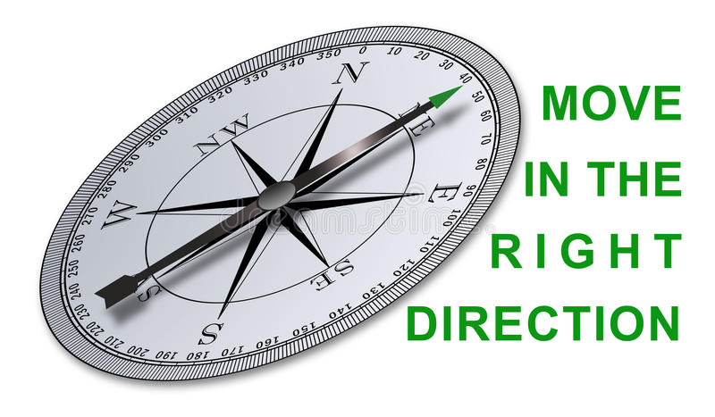 Concept of right direction royalty free stock photos
