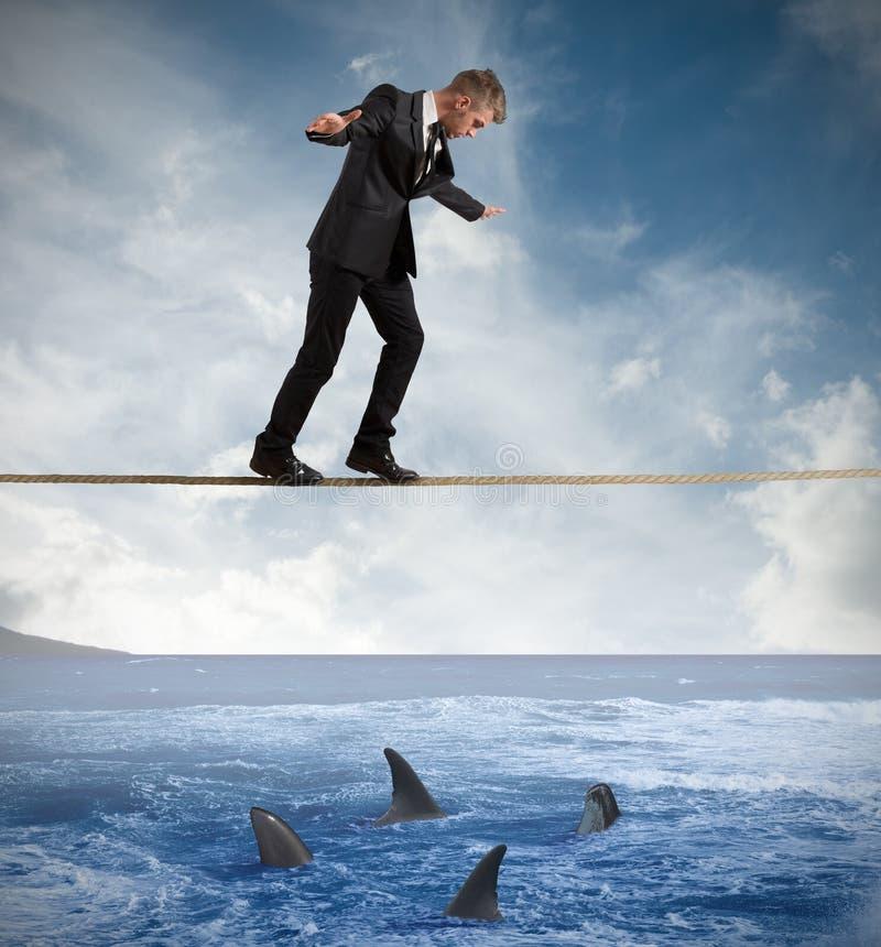 Concept risico in zaken royalty-vrije stock foto