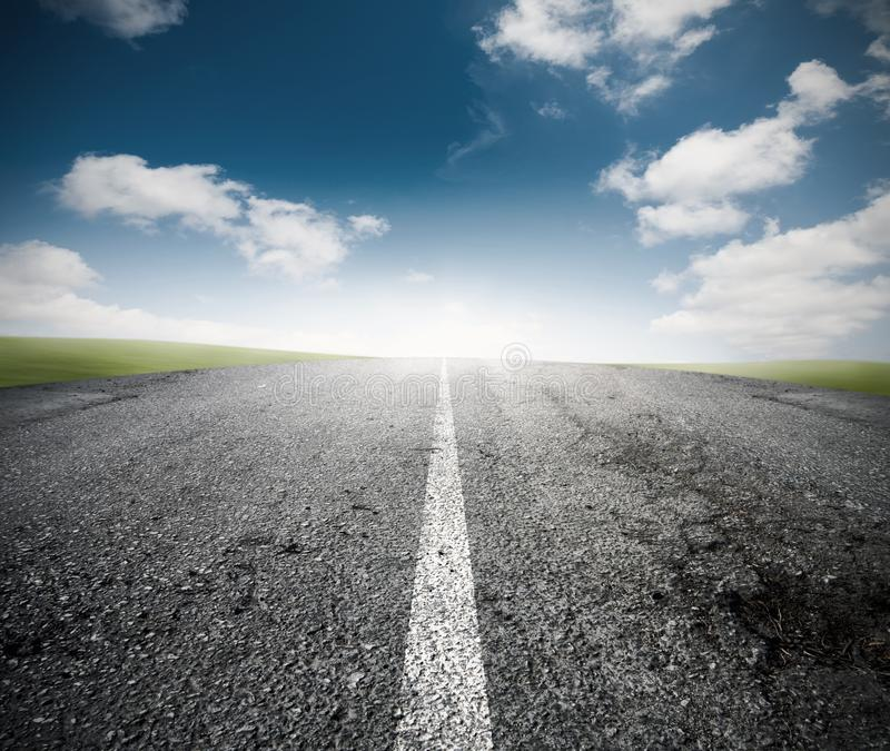 The road for the success stock photo