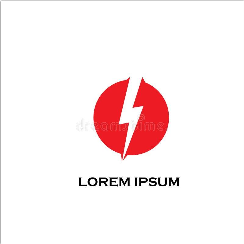Concept rouge de logo de tempête illustration de vecteur