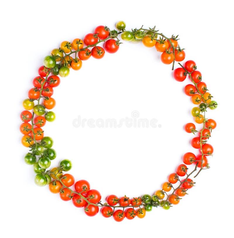 Concept sain de forme de cercle de tomates photographie stock libre de droits