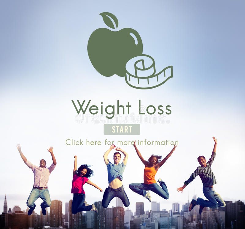 Concept sain de mode de vie d'exercice de forme physique de régime de perte de poids photos stock