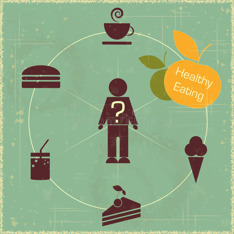 Concept sain de nourriture illustration de vecteur