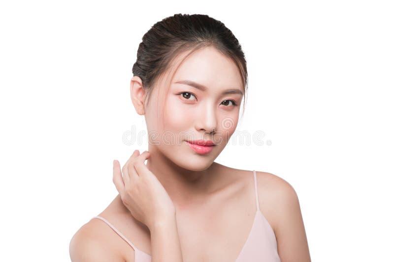 Concept sain de peau portrait de beau modèle de femme avec le fre images libres de droits