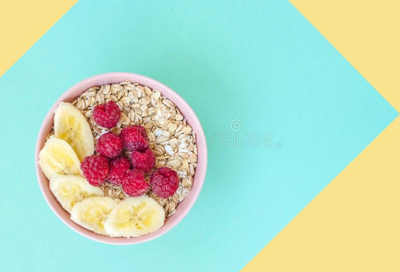 concept sain de petit déjeuner image stock