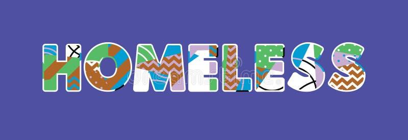 Concept sans abri Word Art Illustration illustration de vecteur