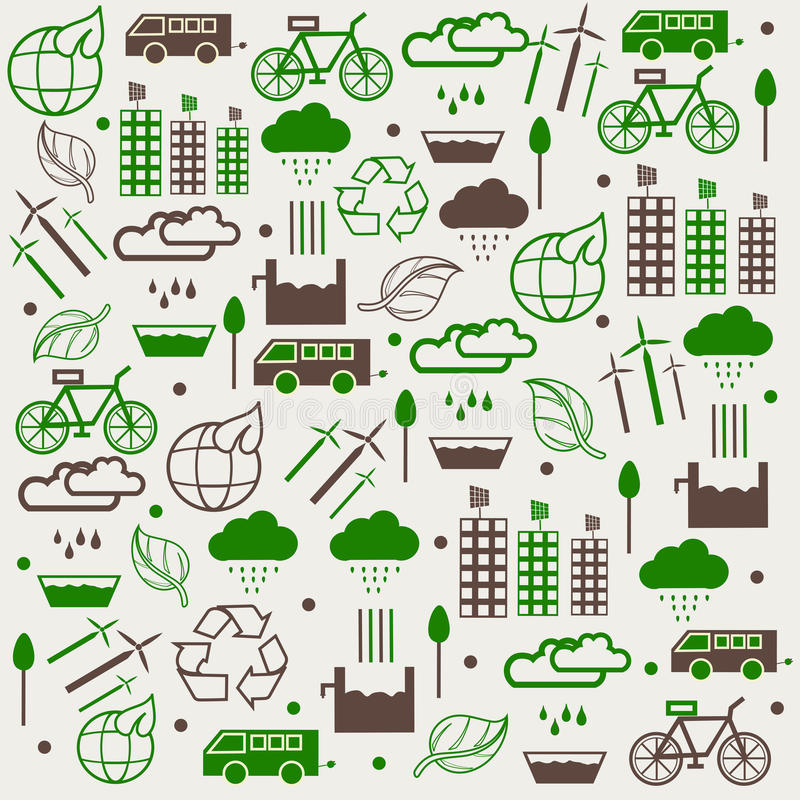 Concept of save Eco collection. Eco energy saving concept collection royalty free illustration