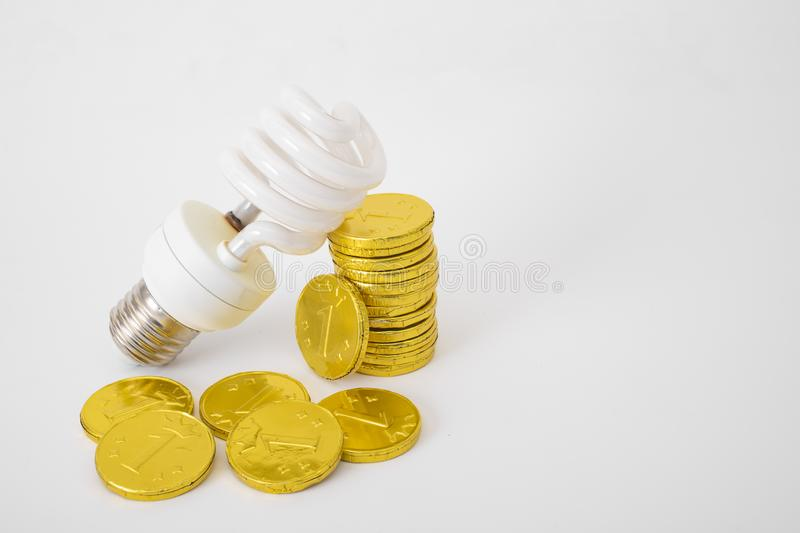 Concept saving energy and money royalty free stock photo