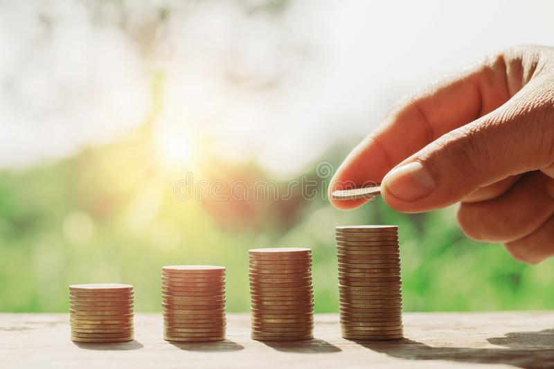 concept saving money with business finance and accounting. hand stock images