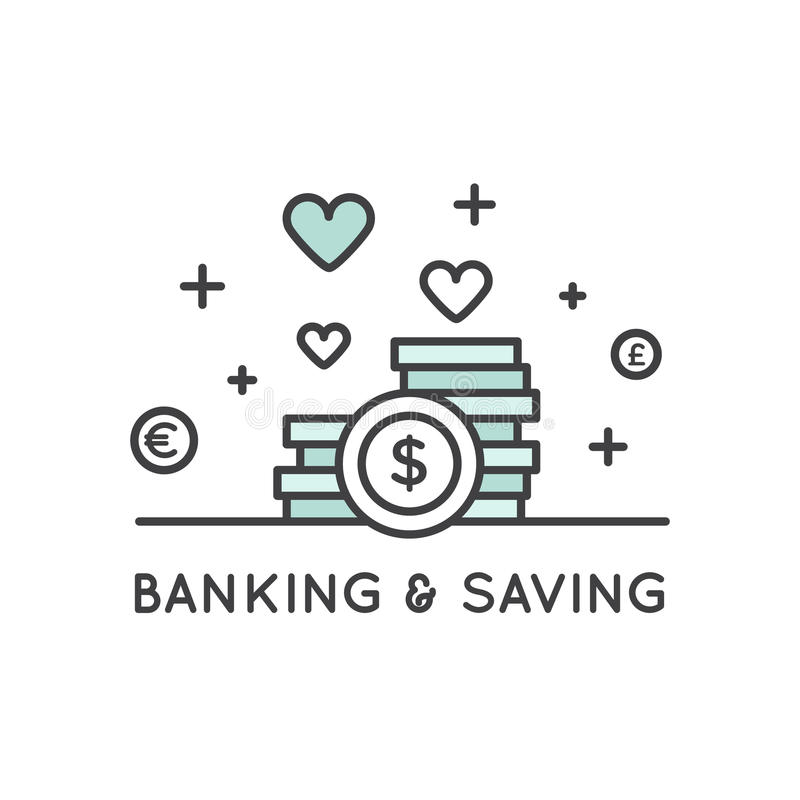 Concept of Savings and Money royalty free illustration
