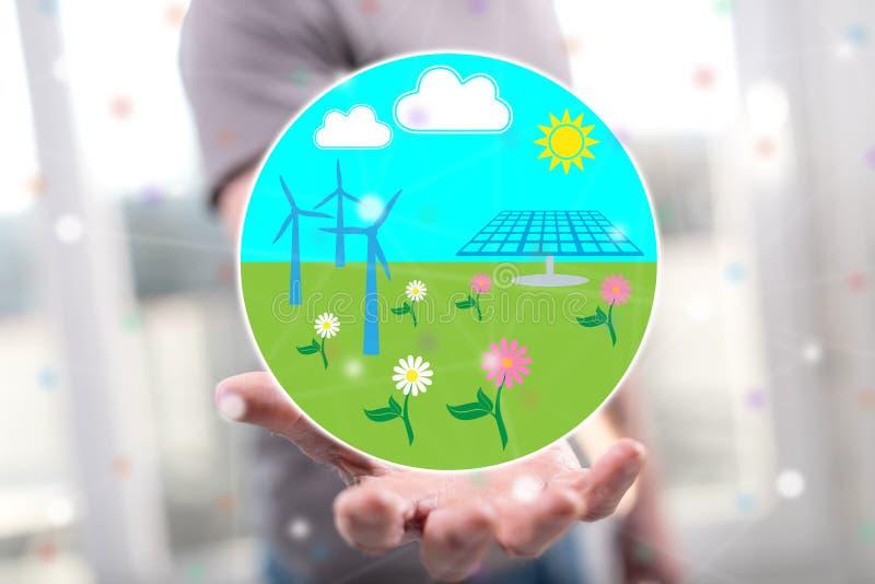 Concept schone energie royalty-vrije stock foto's