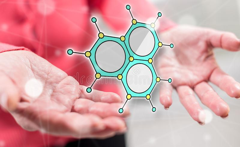 Concept of scientific research stock photos