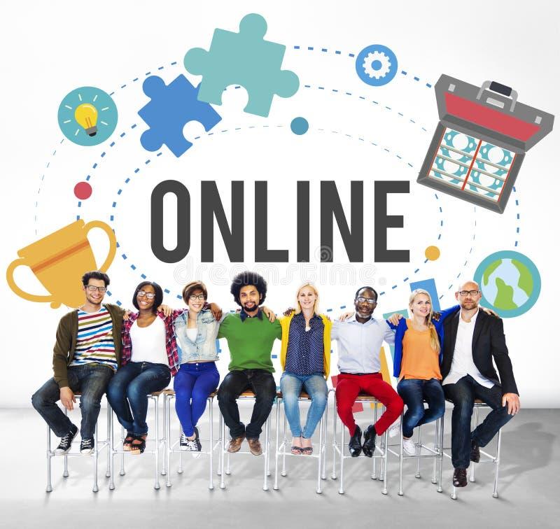 Concept se reliant d'Internet de la Communauté de réseau en ligne photos libres de droits