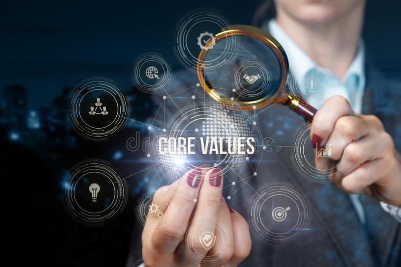 The Concept Of Core Values In Business Stock Photo Image Of Human Businessman 165241050