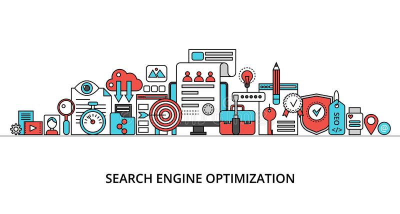 Concept of search engine optimization royalty free illustration