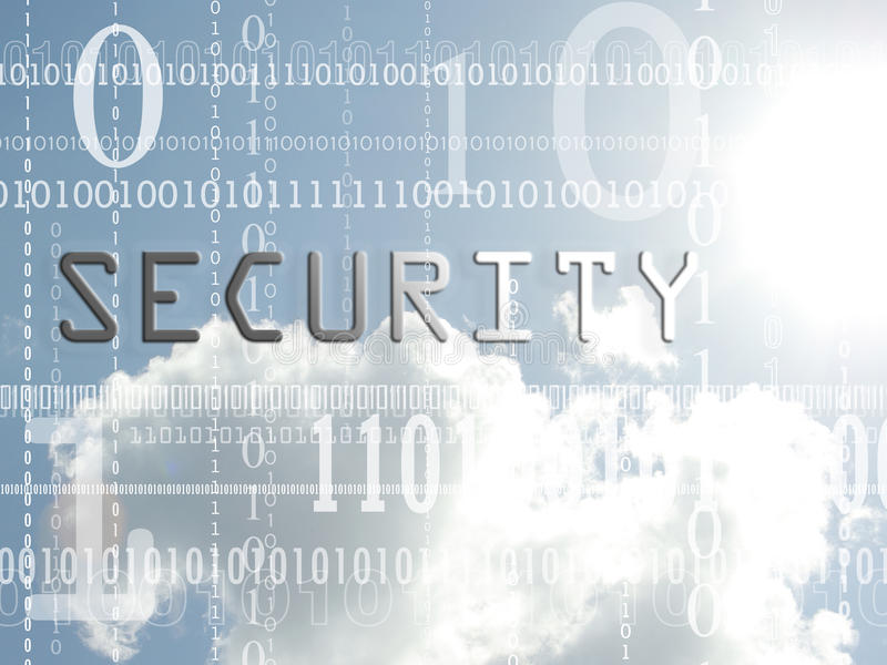 Concept of security royalty free stock photo
