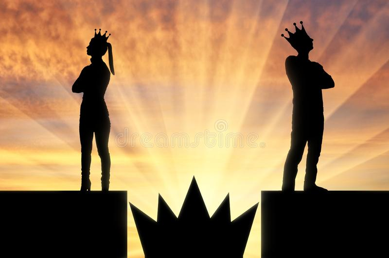 Concept of selfishness and arrogance in the family royalty free illustration