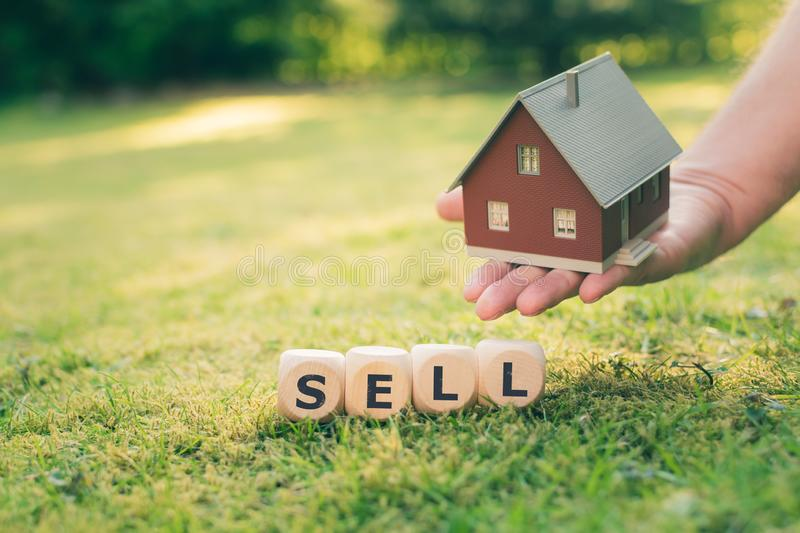 Concept of selling a house. stock image