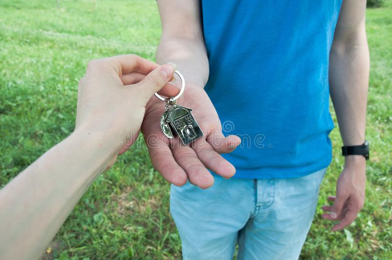 Concept of selling a house stock photo