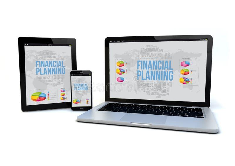 Concept sensible de planification financière illustration stock