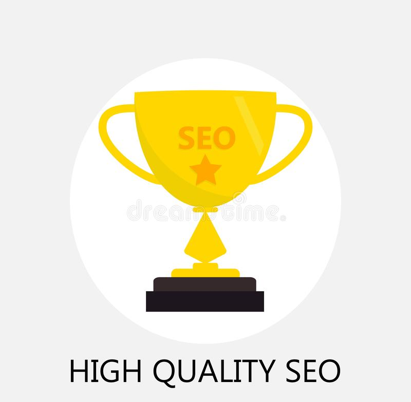 Concept of seo and internet optimization stock illustration