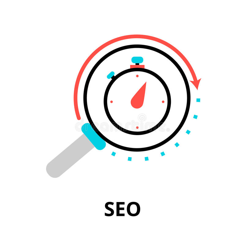 Concept of seo optimization in search engine vector illustration