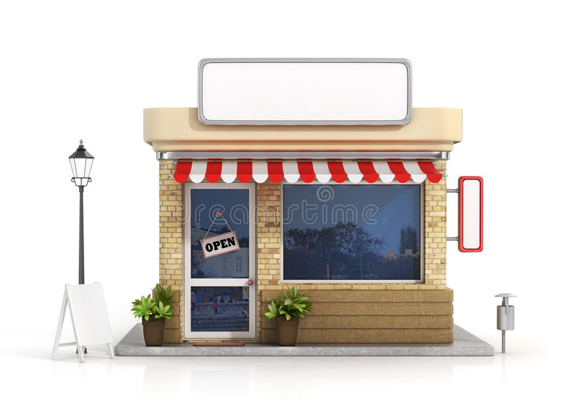 Concept of shop. royalty free illustration