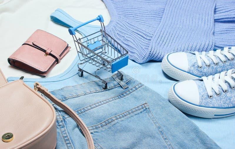 The concept of shopping. stock photos